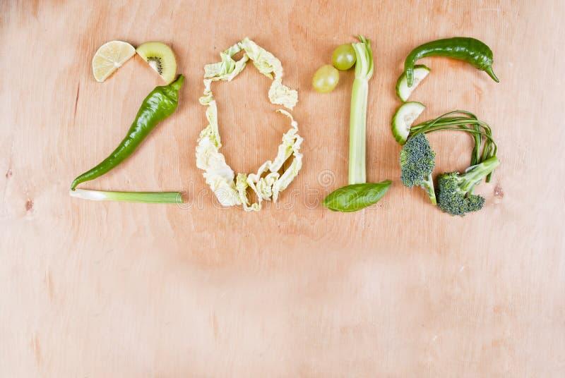 Здоровая концепция еды 2016 стоковая фотография rf