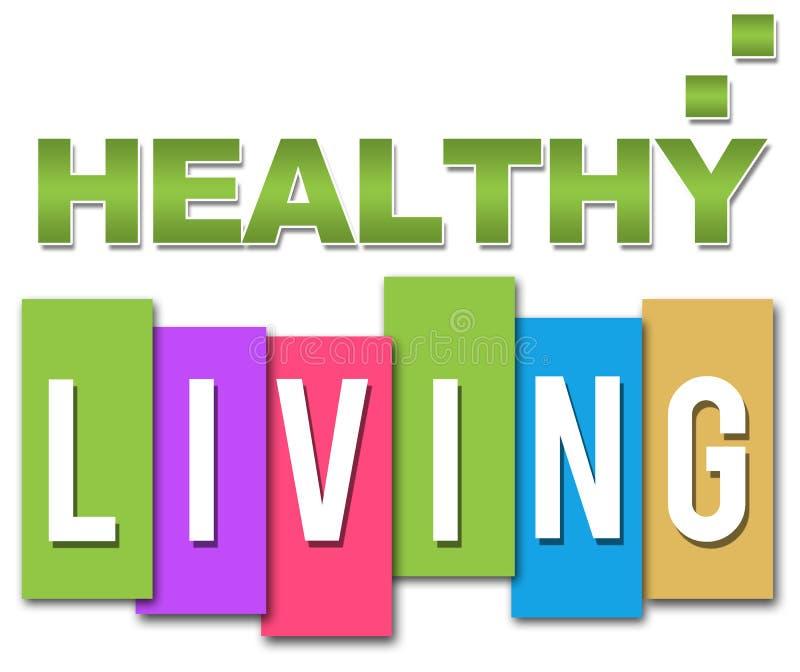 Здоровое живущее профессиональное красочное иллюстрация штока