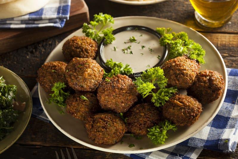 Здоровые вегетарианские шарики Falafel стоковое изображение