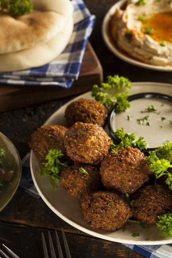 Здоровые вегетарианские шарики Falafel стоковое изображение rf