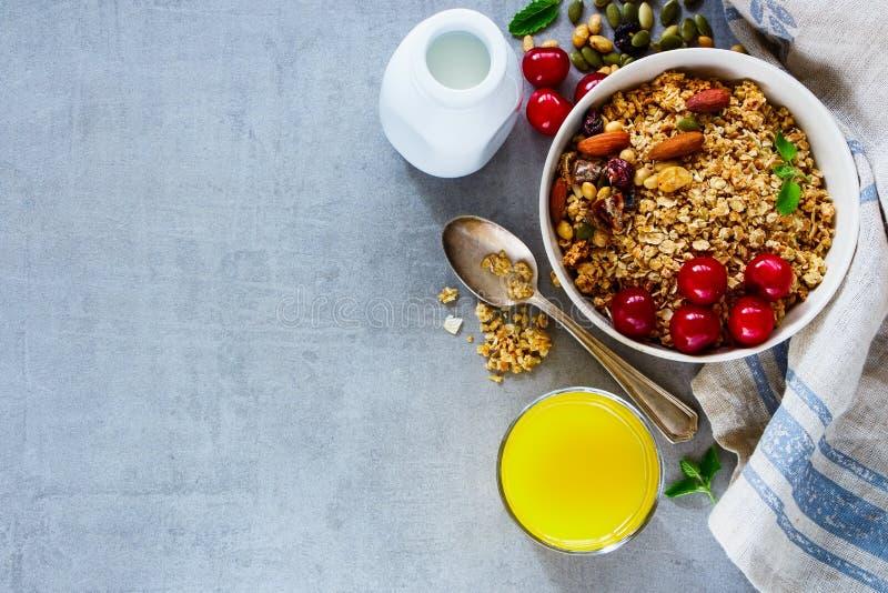 Здоровые ингридиенты завтрака стоковые изображения