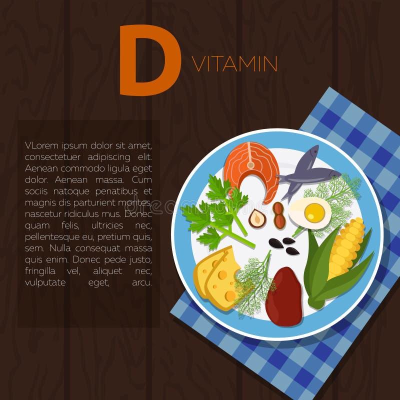 Здоровые образ жизни и диетпитание иллюстрация вектора