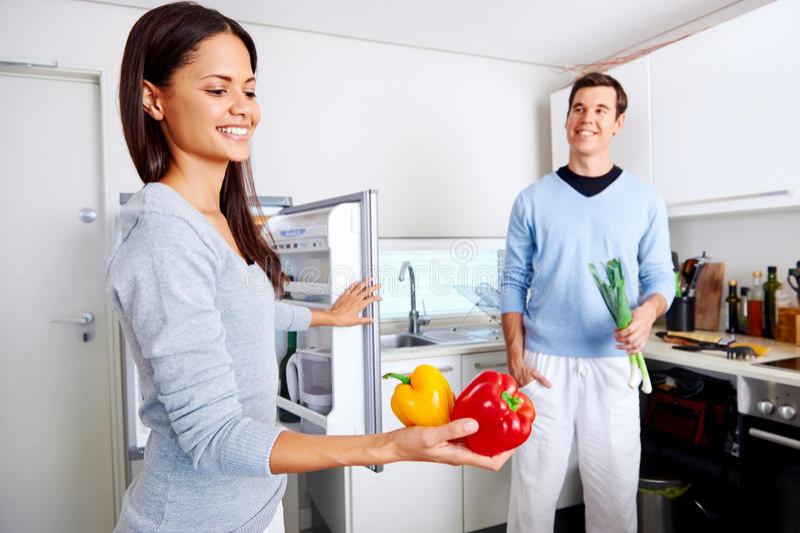 Здоровые пары холодильника стоковое изображение