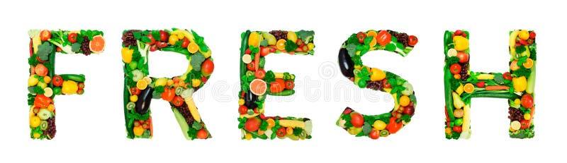 Здоровый алфавит - СВЕЖИЙ стоковое фото rf