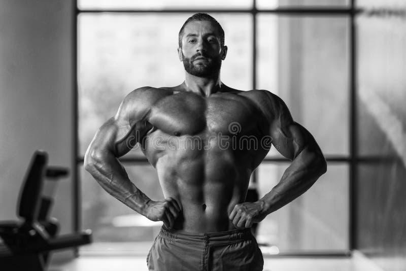 Download Здоровый молодой человек изгибая мышцы Стоковое Фото - изображение насчитывающей пригодность, строения: 81814848