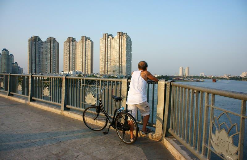 Здоровый образ жизни гражданина на Вьетнаме стоковая фотография