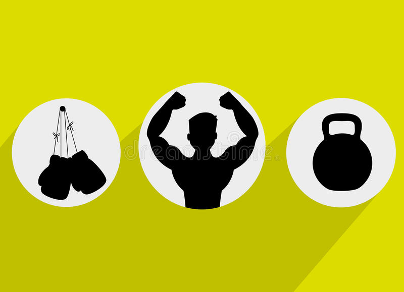 Здоровый образ жизни фитнеса иллюстрация вектора