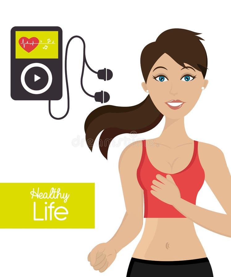 Здоровый образ жизни фитнеса бесплатная иллюстрация