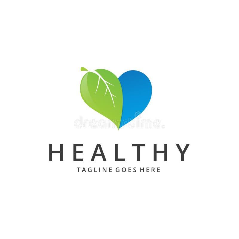 Здоровый логотип здоровое сердце иллюстрация вектора
