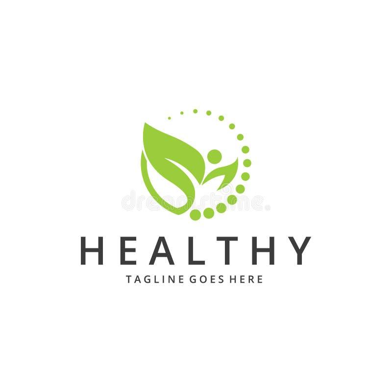 Здоровый логотип иллюстрация штока