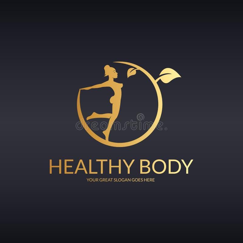 Здоровый логотип bodu иллюстрация штока
