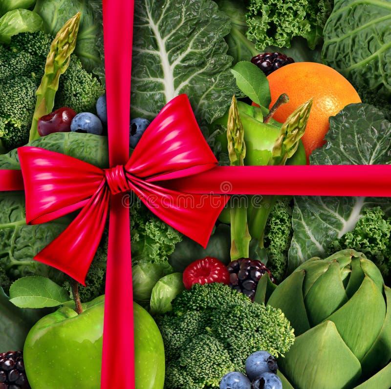 Здоровый подарок еды иллюстрация вектора