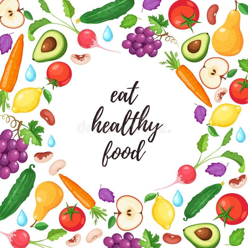 Здоровый плакат еды бесплатная иллюстрация