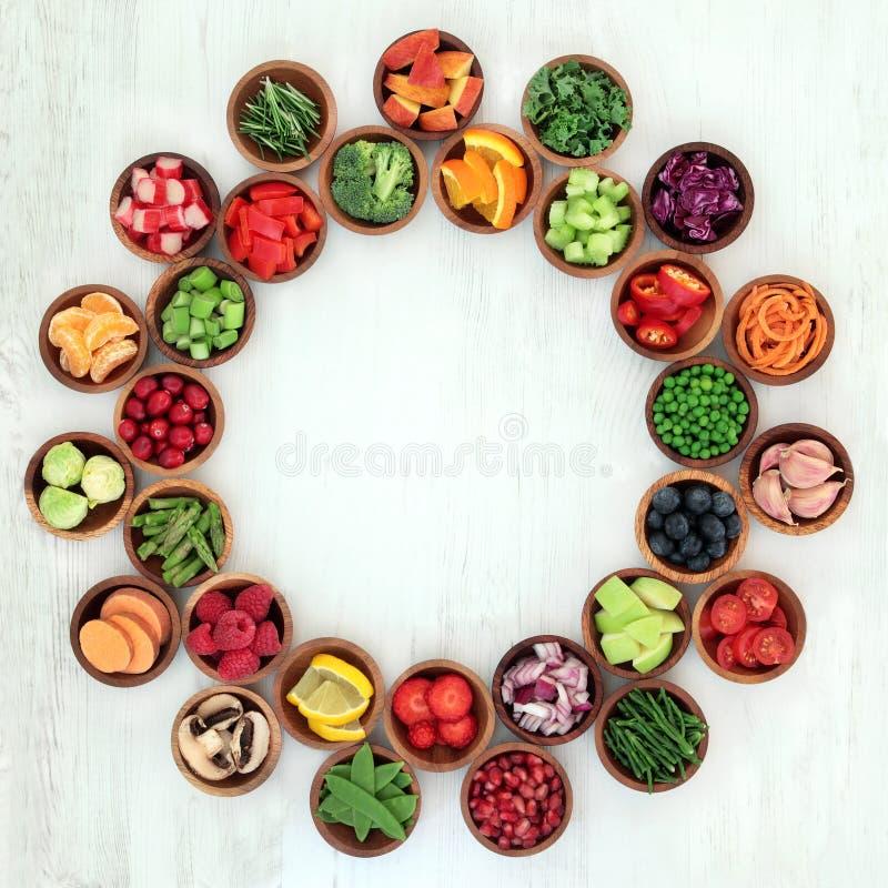 Здоровье диеты Paleo и супер еда стоковые изображения rf