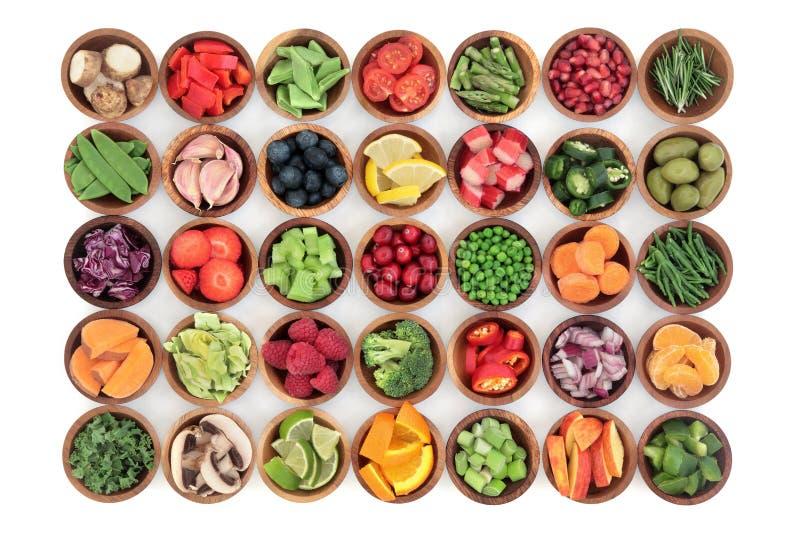 Здоровье диеты Paleo и супер еда стоковое изображение rf