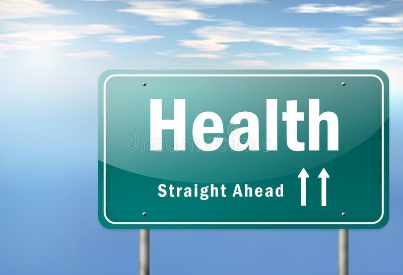 Здоровье указателя шоссе иллюстрация вектора