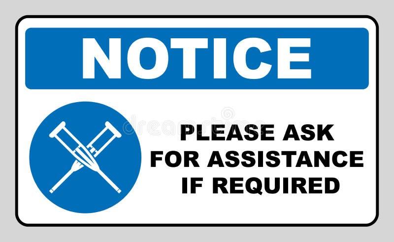 Здоровье crutches значок плоско Изолированный иллюстрацией символ знака вектора Неработающие значки иллюстрация штока