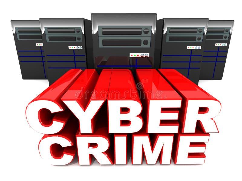 Злодеяние кибер иллюстрация штока
