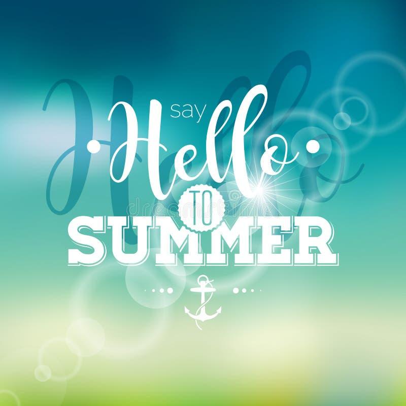 Здравствуйте! лето, я ждал вас цитата воодушевленности на предпосылке нерезкости бесплатная иллюстрация