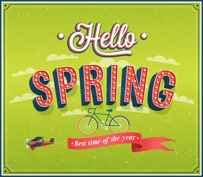 Здравствуйте! дизайн весны типографский иллюстрация штока
