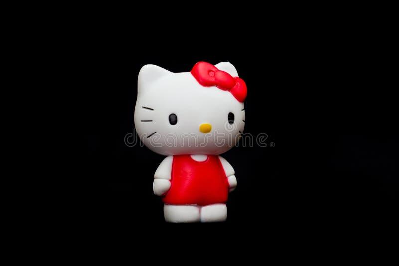 Здравствуйте! кукла киски стоковое изображение
