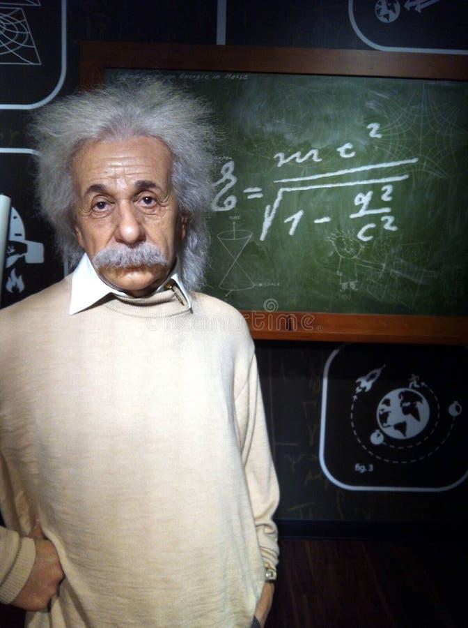 диаграмма воск Albert Einstein стоковые изображения