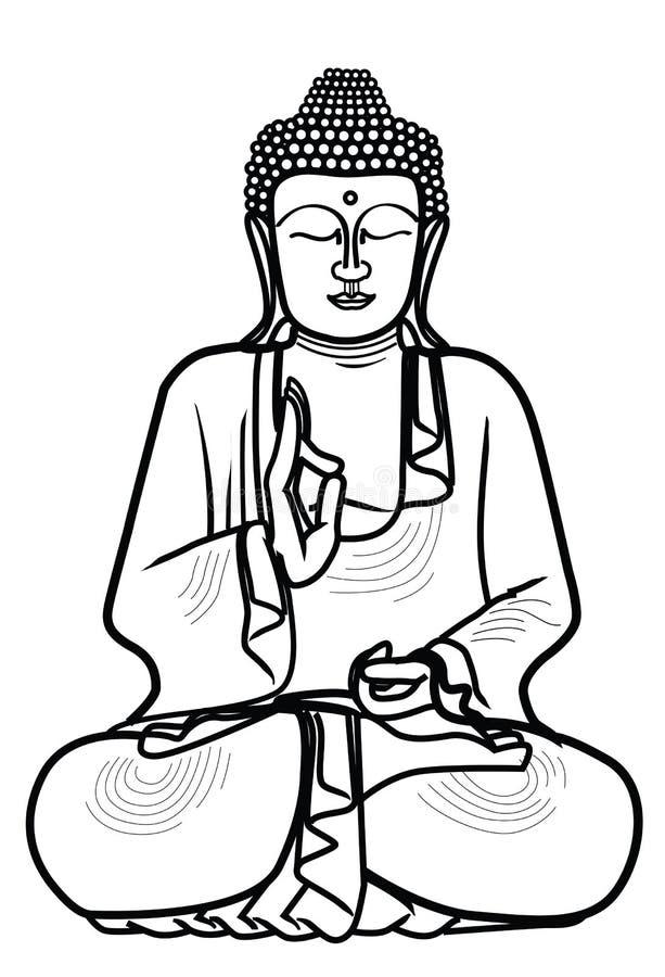 диаграмма усаживание Будды иллюстрация штока