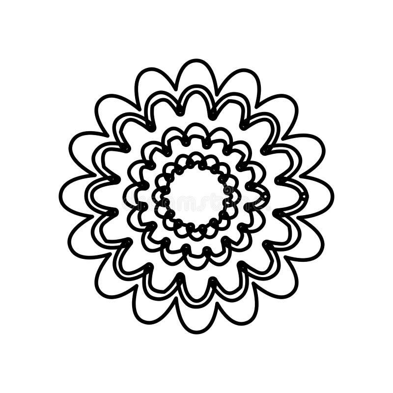диаграмма цветок с абстрактным значком лепестков бесплатная иллюстрация
