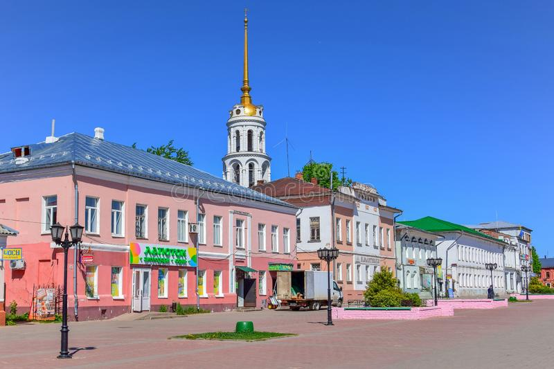 Shuya old town in the Ivanovo region royalty free stock images