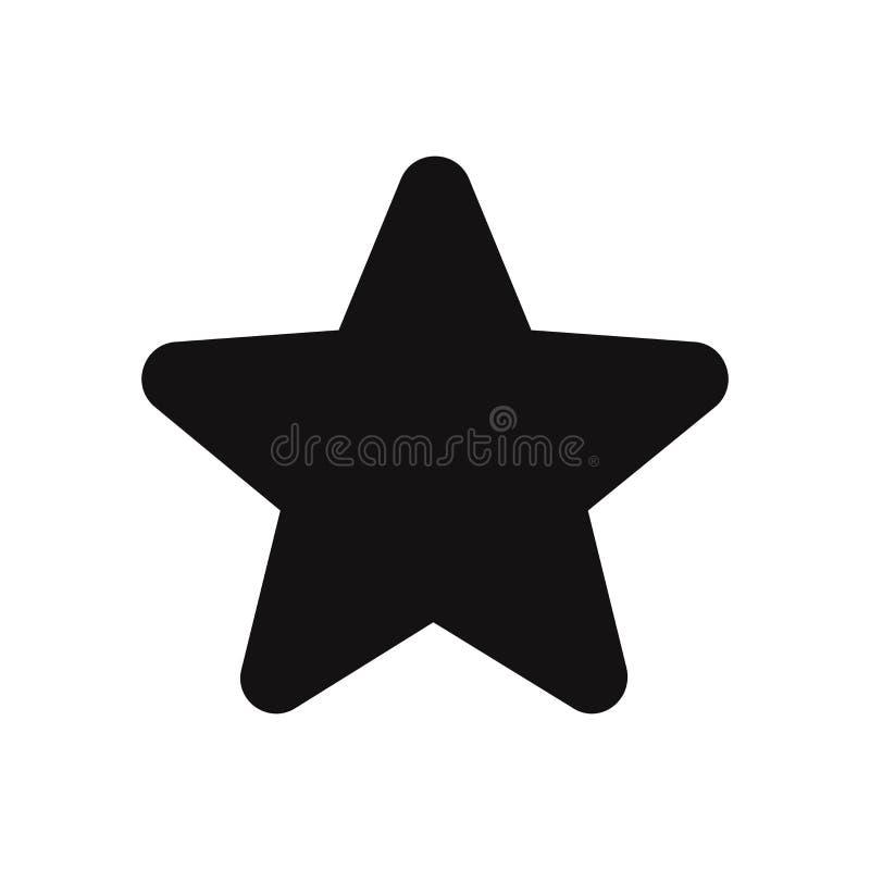 Играйте главные роли значок вектора, фаворит, звезда, самый лучший символ для сети и график бесплатная иллюстрация
