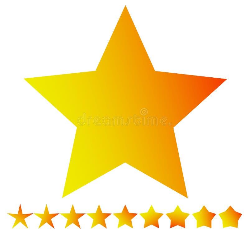 Играйте главные роли форма с тонкими и толстыми версиями - играйте главные роли значок, символ звезды иллюстрация вектора