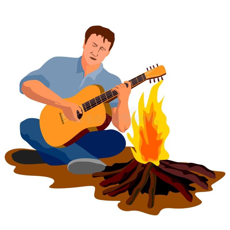 играть ванты гитары иллюстрация штока