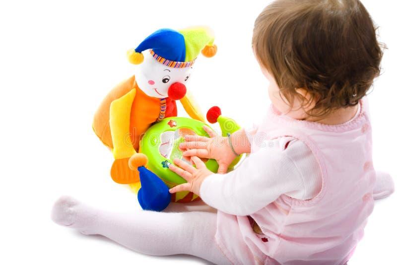 играть выреза младенца стоковое фото