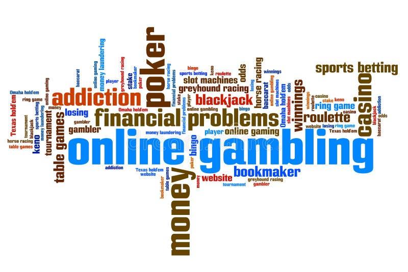 играть в азартные игры он-лайн иллюстрация штока
