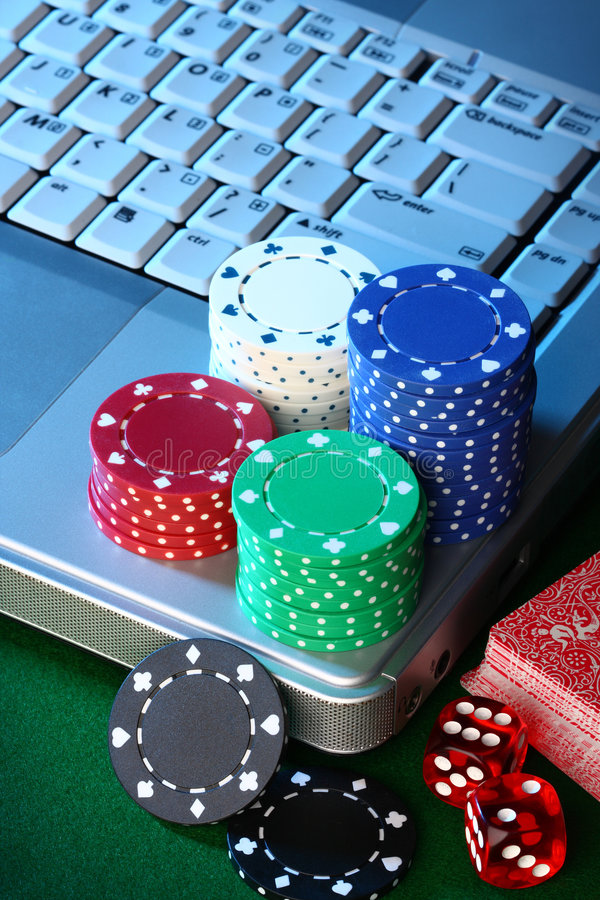 играть в азартные игры он-лайн стоковое фото rf