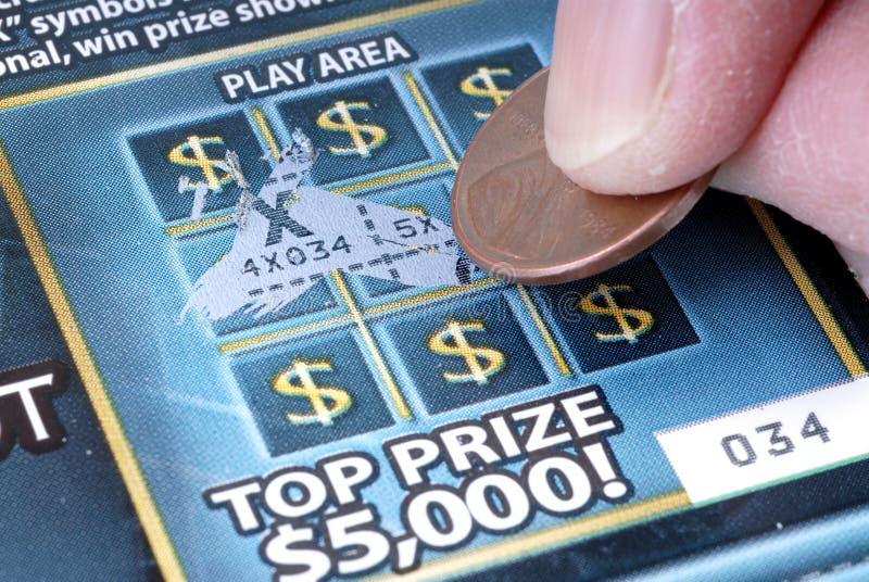 играть в азартные игры с билета скреста стоковые изображения