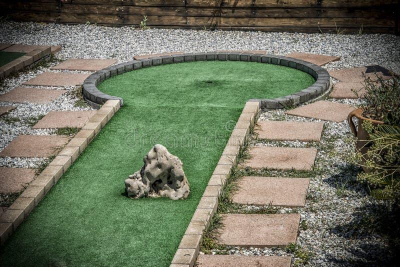 играть гольфа курса миниый стоковое фото