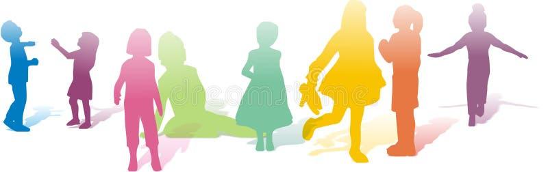 играть детей различный иллюстрация штока