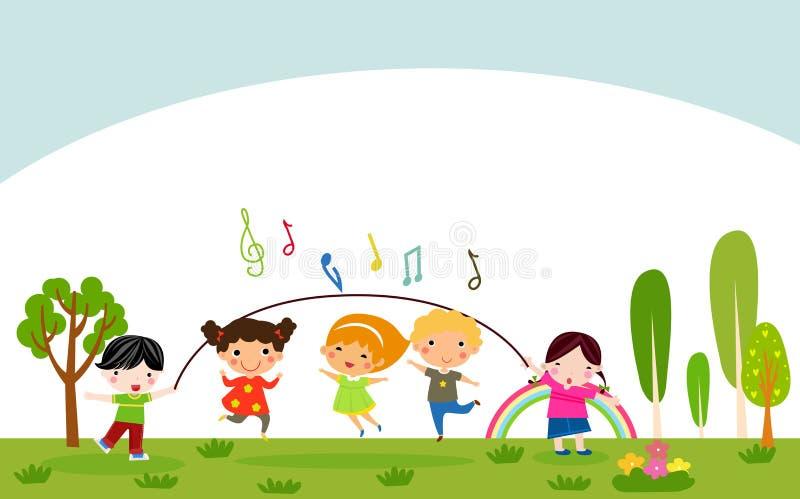 играть детей счастливый иллюстрация штока