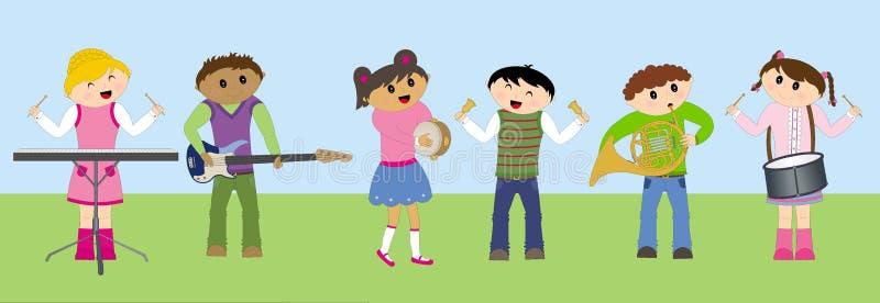 играть детей счастливый иллюстрация вектора