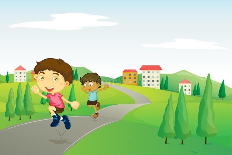 Играть детей иллюстрация штока