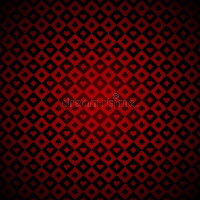 Играть карточки подписывает предпосылку красного и черного казино checkered иллюстрация штока