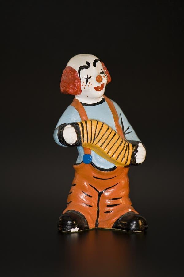 играть клоуна аккордеони стоковые изображения