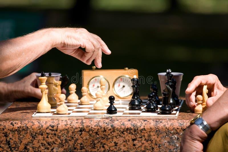 играть людей шахмат стоковые изображения rf