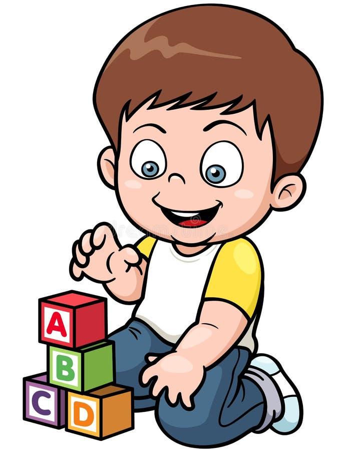 Download Играть мальчика иллюстрация вектора. иллюстрации насчитывающей взволнованность - 37931883
