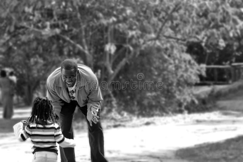 Играть отца и дочи стоковая фотография rf