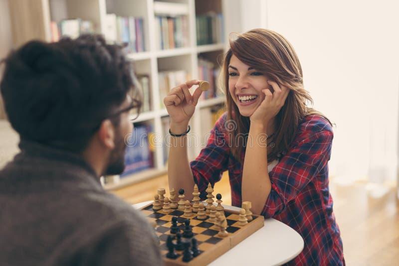 играть пар шахмат стоковое изображение rf