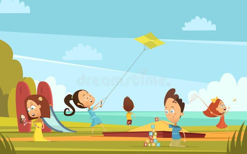 Играть предпосылку детей бесплатная иллюстрация