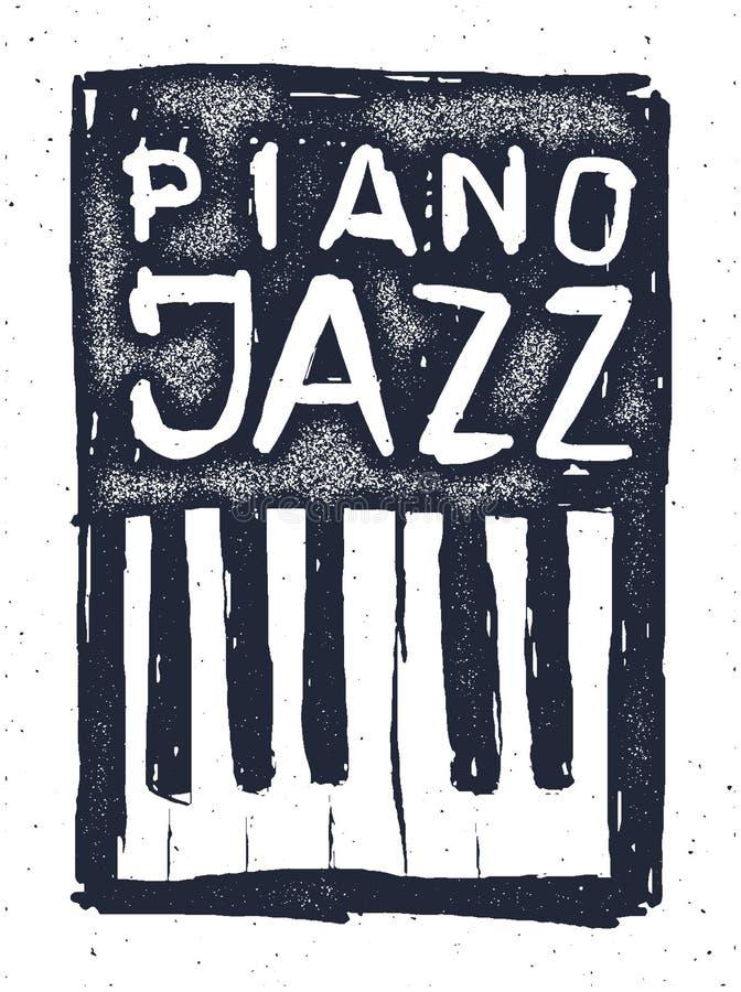 Играть рояль джаза вычерченная рука бесплатная иллюстрация