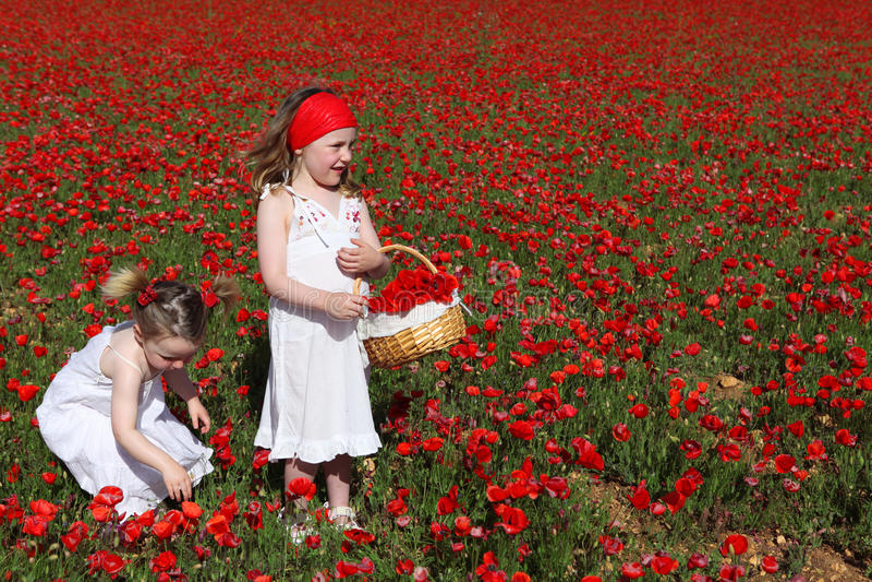 играть рудоразборки цветков детей счастливый стоковое фото